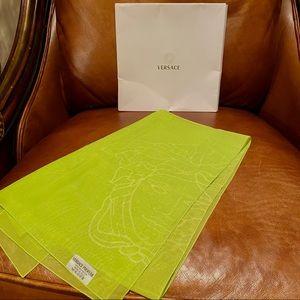 New W/Box Versace Lime Green Sheer Fashion Scarf